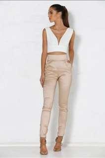 MESHKI High Wasted Pants - Nude - AU Size 8