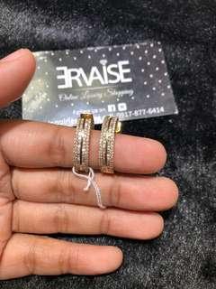 LOOP diamond Earrings Hk setting Vs grade i color