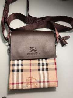 Burberry men's side bag