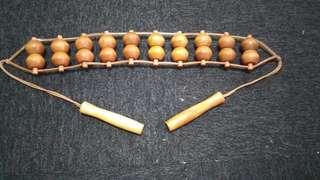 Wooden roll massage