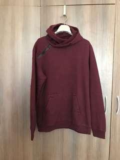 Maroon Hoodie Pullover Jacket