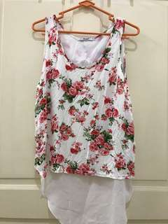 PRELOVED Baju Flower rose top