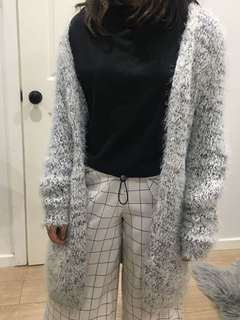 Black and grey cardigan