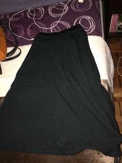 Zara Long Black Skirt