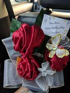 Fabric Rose Bouquet