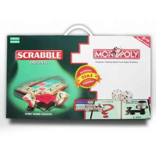 Scrabble / Monopoly (2 in 1)