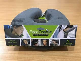Face cradle travel pillow