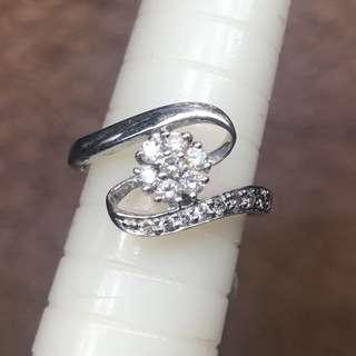 18k白金鑽石戒指 diamond ring