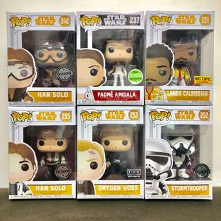 Padmé & Han Solo Exclusive Funko Pop!