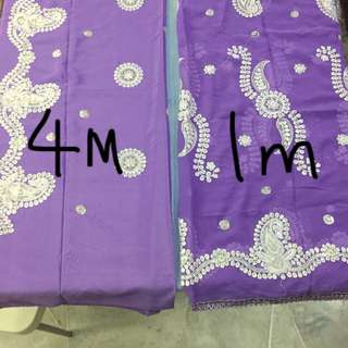 (BN) Promotion for this week- Violet Suit Material 5 metres