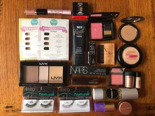 Bulk Makeup Items (most new) - Nars, MAC, Ardell, Nyx, Hourglass, Australis etc