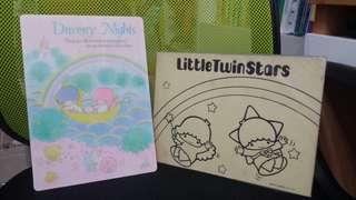 Sanrio 1976年 twin stars 膠墊板 送 76年 填色卡紙 罕有 絕版 全新