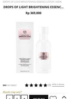 The Body Shop - Drops of Light Brightening Essence
