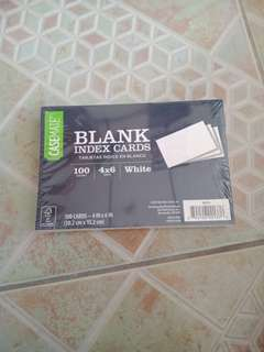 CaseMate Blank Index Cards 4x6inch 100ct