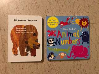 ERIC CLARKE brown bear THOMAS FLINTHAM Animal Numbers counting toddler book