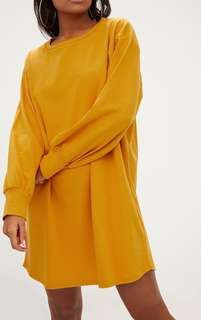 Mustard oversized sweater dress