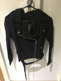 Boohoo Suedette Biker Jacket