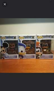 Funko Pops Mickey Donald Goofy Kingdom Hearts