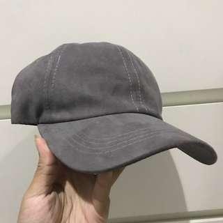 Grey Suede Cap