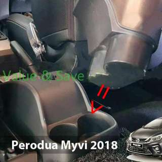 New Perodua  MYVi 2018 Arm Rest Black Leather Black Stitch with USB