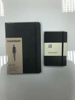 MOLESKINE fashionary 2 notebooks