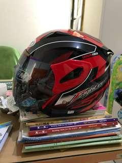 Helm GM Fighter Merah Hitam