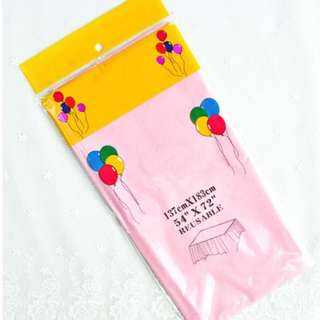 (In Stock)Plastic Table Cover-Reusable(137cm*183cm)