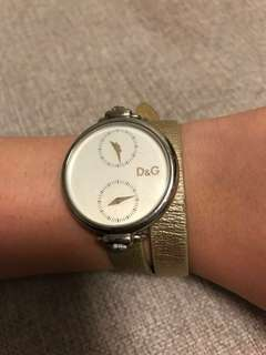 D&G Double Strap Watch