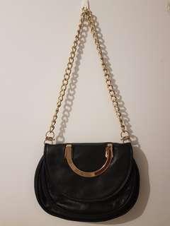 Oroton black medium cross body bag