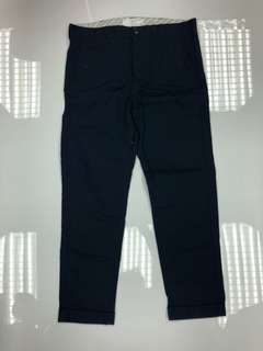 Black chocoolate navy blue cotton cropped pants S