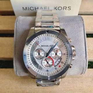 MK Brecken Silver Chronograph