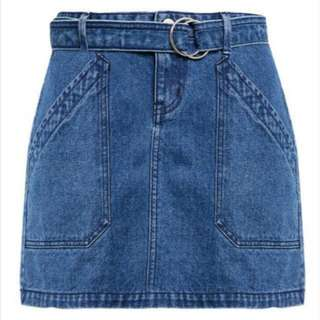 REPRICED Penshoppe A-Line Skirt with Cut and Sew Details
