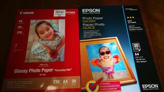 Glossy photo printing paper canon epson
