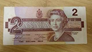加拿大2元加幣