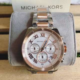MK Brecken Two Tone rosegold chronograph unisex
