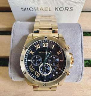 MK Brecken Gold Black dial chronograph