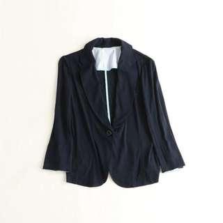 Navy thin blazer