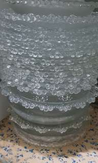 Thick glass bowls&plates& cups set