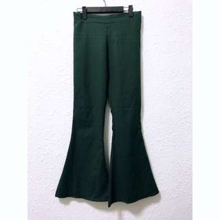 Green Bell Bottom pants