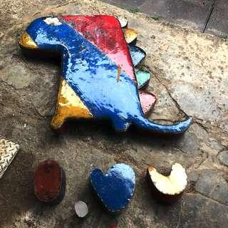 I love ❤️ u Dino wall ornament