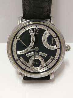 Maurice Lacroix Calendrier Retrograde Hand-winding Watch with Leather Belt TP015