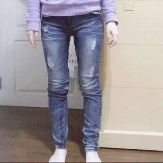 🚚 牛仔緊身長褲