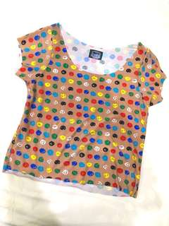 Colorful dot top