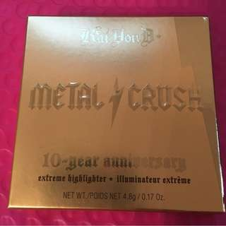 KAT VON D 10th Anniversary Metal Crush Highlighter (Gold Skool) Full Size BRAND NEW & AUTHENTIC [PRICE IS FIRM, NO SWAPS]
