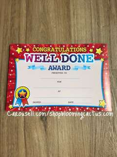 (New!) Student Motivational Reward Certificate for Teachers