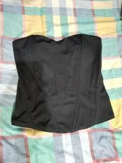 黑色tube top