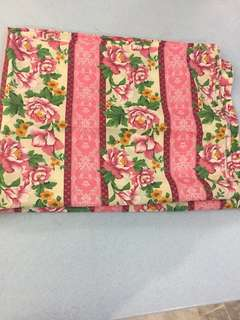 (BN) Promotion for this week-Pink Floral Design Detron Cotton Material 4 metres