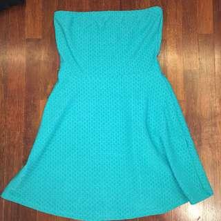 H&M turquoise tube dress