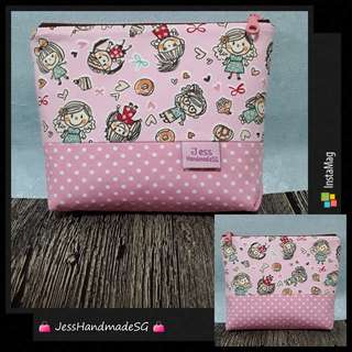 Handmade Multi Purposes 15cm Zipper Pouch【 FREE NON-REGISTERED MAIL 】