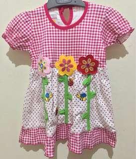 New Dress kotak bunga